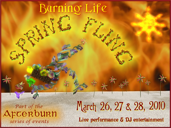 Time to Burn! Burning Life Spring Fling, March 26-28