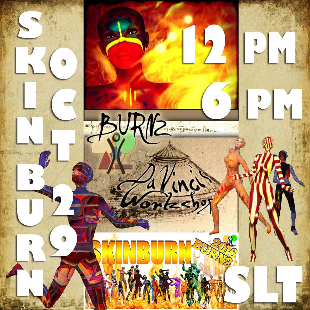SKIN BURN 2016: Saturday 29 October