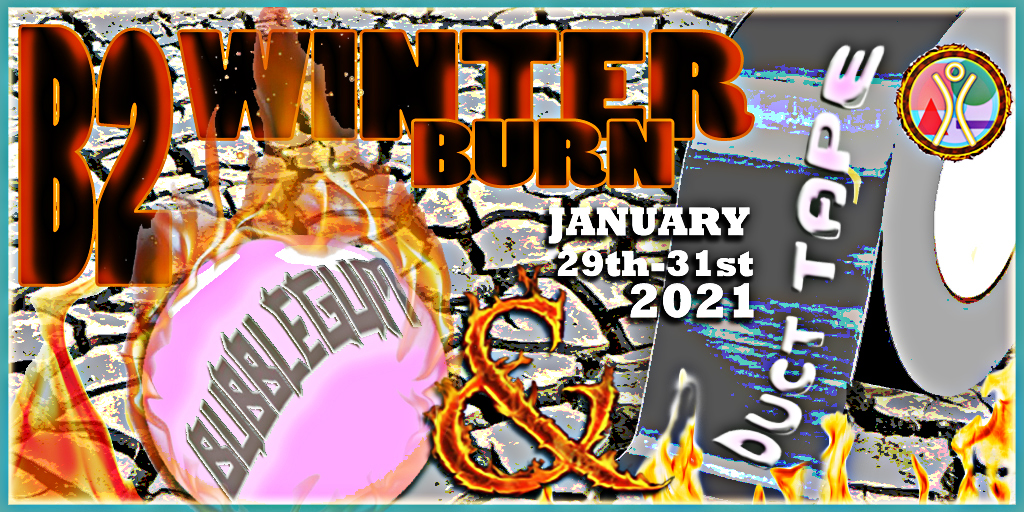 Burn2 Winter Burn 2021 poster designed by Daark Gothly